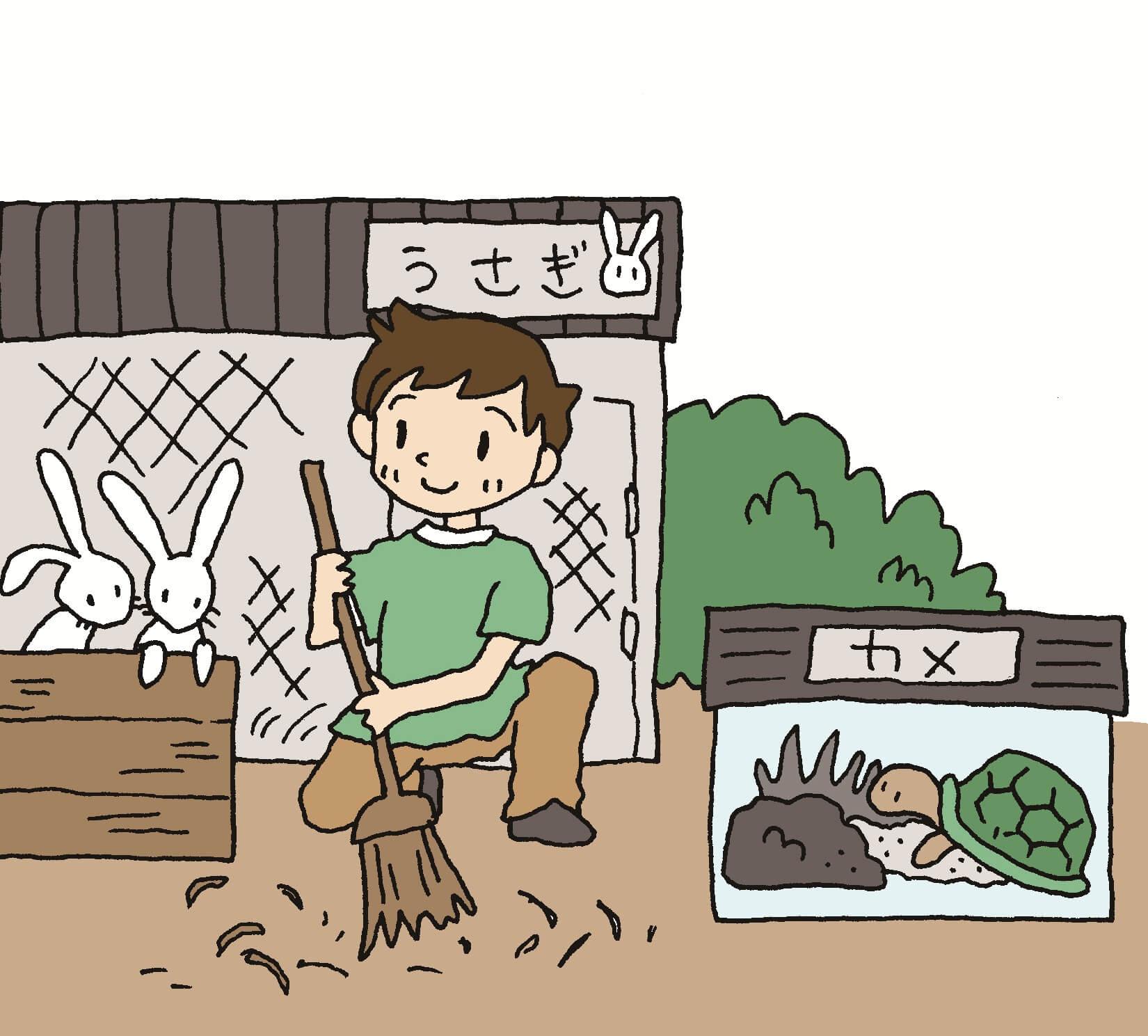 (お当番をするなら)「生き物の世話をする」のと、「みんなの前でお話しする」のと、どっちが好き?_011_01